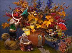 Siren song | Victor Nizovtsev 1965 | Russian Fantasy painter