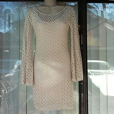 Free People open back gypsy dress Worn once lime new got x's,s ivory color Free People Dresses
