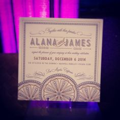 3-color #letterpress #weddinginvitation by our partners at @Spark on display at the #DragonRidge wedding open house