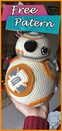 BB8 from Star Wars Crochet Pattern Written | Star Wars Crochet, BB8, BB-8, BB8 Crochet, BB8 Crochet Pattern, Free Pattern, Star Wars The Lasti Jedi, Star Wars the force awakens, Crafts, DIY, How To, ravelry, tutorials, step by step, crochet, bb8 droid crochet, Amigurumi, Amigurumi pattern, ravelry.com. #crocheting #YarnOfCrochet #crochet #crochetpattern #crochetaddict #freepattern #amigurumi #starwars