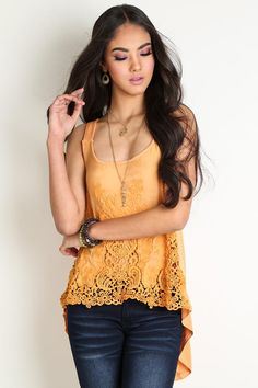 High-Low Tie Back Blouse Funky Soul