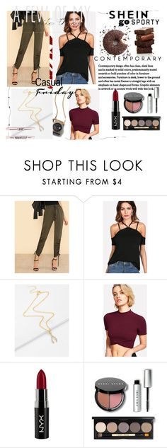 """Shein 1"" by medinicab ❤ liked on Polyvore featuring NYX and Bobbi Brown Cosmetics"