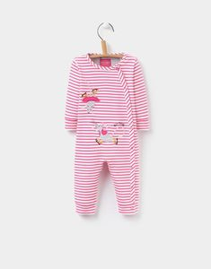 Joules Gracie Baby Girls Applique Babygrow
