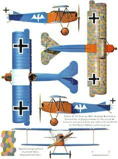 Fokker D.VII Unit: JG 2 Serial: unknown Pilot - CO of JG 2 Capt.Rudolf Berthold. Name: Rudolf Berthold; Rank: Hauptmann; Units: FFA 23, Jas...