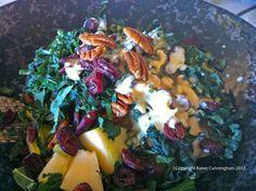 Apple, Walnut and Cranberry Salad (Raw)
