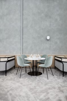 Also featured in Flora Danica is one of GamFratesi's newest launches for GUBI, the TS Dining Table.