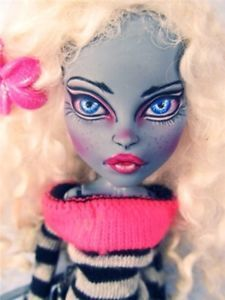 OOAK Meowlody Custom WereCat Monster High Doll Dressed Costumed Repaint Reroot By Donna Anne