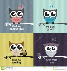 Royalty Free Stock Photo: Vector owls