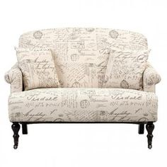 Unique little settee. Perfect for a small living area or office space. HomeDecorators.com #12DaysofDeals2015 #seating