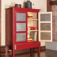 Love this red pie safe