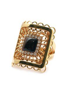 Tiger Eye and Diamond Ring by Garavelli