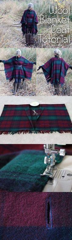 diy wool blanket coat