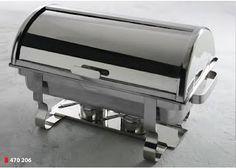 CHAFING DISH CU CAPAC ROLL  Chafing Dish-  cu capac rabatabil; Vas Incalzitor, GN 1/1; Include 2 recipiente pentru combustibil si tava pentru alimente din otel inoxidabil cu adancimea de 65 mm;  Potrivit pentru vaschete GN cu pana la 100 mm adancime; Fund prevazut cu suruburi de fixare pentru element electric de incalzire (cod produs 809709); Functioneaza si cu combustibil lichid; Dimensiuni: 590 x 340 x (H)400 mm; Capacitate: 9 litri. Produs Profesional Horeca produs in Olanda; Chafing Dishes, Grilling, Outdoor Decor, Kitchen, Vase, Home Decor, Cooking, Decoration Home, Room Decor