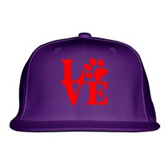 Love Dog Embroidered Snapback Hat