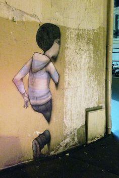 Street art by SETH (alias Julien Malland) in Paris, France Street Wall Art, Street Art Banksy, Graffiti Wall Art, Street Mural, Urban Street Art, Urban Art, Pavement Art, Amazing Street Art, Building Art
