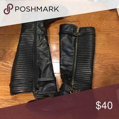 tall zip up boots talk zip up boots worn less than 5 times jcrew Shoes Winter & Rain Boots