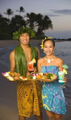 Oahu, Paradise Cove Luau Food.  There are other Luau's that you may want to check out.