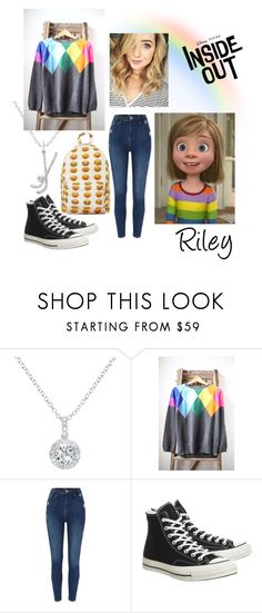 """""""Riley"""" by foreverdisneybounding ❤ liked on Polyvore featuring EWA, Disney, Converse, disney, disneybound, pixar, Riley and insideout"""