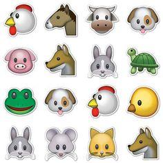 Animal Emojis, $16, animal emoticon stickers by Emoji Stickers !!