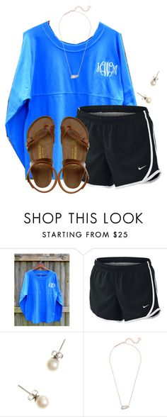 """~sunshine~"" by flroasburn on Polyvore featuring NIKE, J.Crew, Kendra Scott and Birkenstock"
