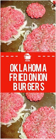 hamburger meat recipes Oklahoma Fried Onion Burgers Home Family Recipes Beef Dishes, Food Dishes, Main Dishes, The Best Burger, Grilling Recipes, Cooking Recipes, Barbecue Recipes, Beste Burger, Hamburger Meat Recipes