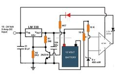 6v 12v 24v battery charger circuit with automatic cut off and shut rh pinterest com Complete Circuit Diagram Online Circuit Diagram