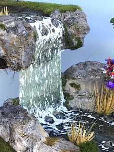 The latest creation by Firefly Creek Studio, is a Magic Falls, fairy house. Beautiful water fall spills into a stream running by the fairy house. Lemax Christmas Village, Christmas Villages, Noel Christmas, Miniature Christmas, Christmas Houses, Fairy House Crafts, Fairy Houses, Beach Fairy Garden, Fairy Gardens