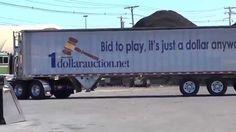 1 Dollar Auction 18 wheeler unload in warehouse discount center