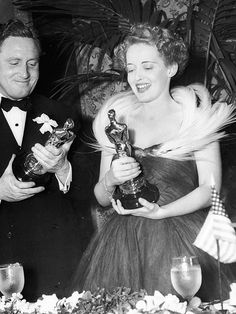 Most Original: Bette Davis (1939) PHOTO: JOHN KOBAL FOUNDATION/GETTY IMAGES - A Look Back at the Best Oscars Fashion Moments of All Time via @WhoWhatWear