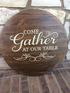 This wooden Lazy Susan comes in two sizes, 18 or 24. It is sanded, stained*, and sealed to be water resistant and then personalized with outdoor grade (permanent) vinyl. If you prefer to have your design painted on instead of vinyl please add this upgrade to your cart: https://www.etsy.com/listing/484535643/painted-design-upgrade?ref=shop_home_active_22 The Lazy Susan spins but does NOT include handles. This style is also available as a tray with two handles ad...