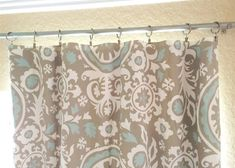 Taupe Suzani Curtains. 25 or 50 Inch Widths. 63 84 96 108