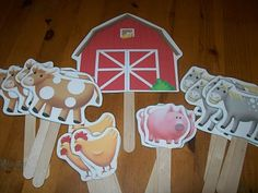 """Make stick puppets. Stars for """"twinkle, twinkle little star"""", farm animals for """"old macdonald"""", and  suns for """" you are my sun shine."""" Cute idea."""