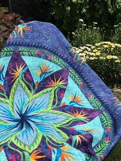 Paradise in Blooms ~Quiltworx.com, made by CI Cindy Haddick