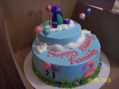 Barney the Dinosaur Cake by Jayme Sue's Cakes this is my mom's friend she makes amazing cakes I'm trying to spread her around