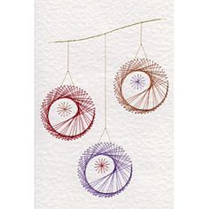 Form-A-Lines Form-A-Lines Three Christmas Baubles C26-1