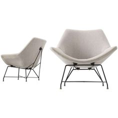 Augusto Bozzi Pair of Easy Chairs for Saporiti 1