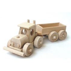 Trailer truck of wood