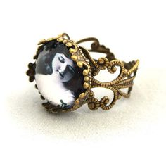10 SALE  Ring Fancy Lady Cameo  Grayscale Elegant by timegemstone, £5.49