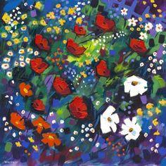 Cottage Garden by Bernie Wisniewski Limited Edition prints Artist Biography, Source Of Inspiration, Limited Edition Prints, Impressionist, Vibrant, Cottage, Paintings, Floral, Garden