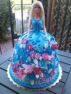Blue Barbie Doll Cake By mycakecreations on CakeCentral.com