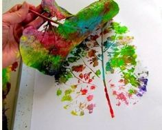 Simple Fall Nature Crafts for Kids: Leaf Painting