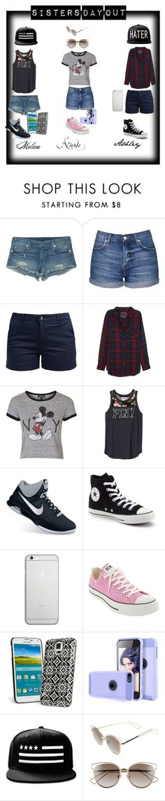 """""""Sisters day out!!!!!!!"""" by mrshoran-374 ❤ liked on Polyvore featuring True Religion, Topshop, Barbour, Rails, NIKE, Converse, Native Union, Vera Bradley and Christian Dior"""