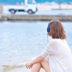 須磨 #海 #雰囲気 #浸る #軽トラ邪魔 #ヘッドホン #音楽オフ会企画化決定 #headphones  #audiotechnica #ath_s100