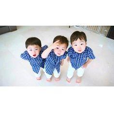 I reallyyyy love this triplets! Daehan, Minguk, Manse!