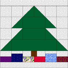 Quilt Shops 	Tips 	Links  Glossary 	Lessons 	For Sale 	Home    xmas tree with presents 	  	  Christmas Tree and Presents    I was in a very weird mood the past week. I started thinking about the block that I was going to code for this month and decided that I wanted to do something original and seasonal. Since we seem to work a couple of months ahead...that puts us up to after Thanksgiving...Christmas! I designed this block in my head and found that, for a change, it translated just as well…