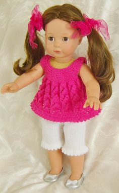 """Ravelry: AMERICAN GIRL DOLL CREAM OF THE"""" CROPS"""" PJs OR PLAYTIME SETS pattern by Jacqueline Gibb"""
