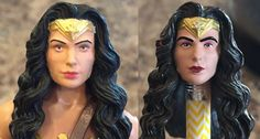 Wonder Woman DC Multiverse Custom Repaint Action Figure Before and After