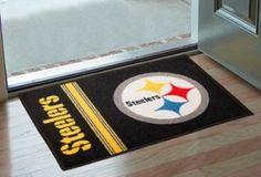 Pittsburgh Steelers Area Rug - Starter Style, Logo/Stripes Design (backorder)