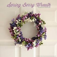 Create a simple and sophisticated Berry Spring Wreath from dollar store materials!