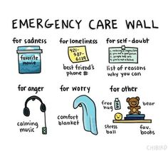 When Youre Feeling Down, How Are You Feeling, Self Care Bullet Journal, Emergency Care, Stress, Mental And Emotional Health, Self Care Activities, Self Improvement Tips, Self Care Routine